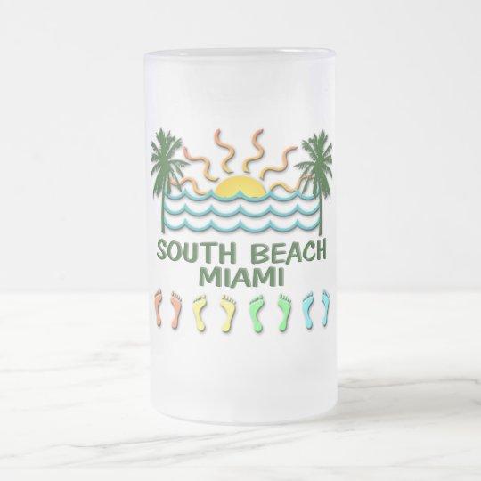 Südstrand Miami Mattglas Bierglas