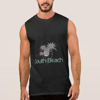 Südstrand-Miamigraue Palmen und Sun Ärmelloses Shirt