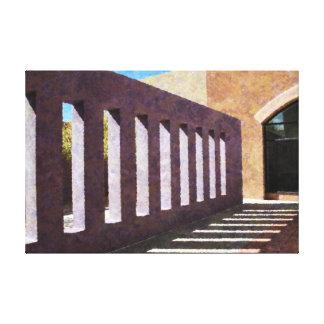 Südwestliches Architekturdetail Leinwanddruck