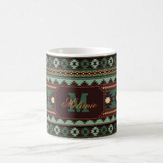 Südweststammes- grünes Braun Kaffeetasse