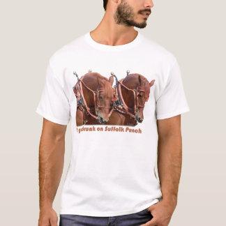 Suffolk-Durchschlags-Entwurfs-Pferd T-Shirt