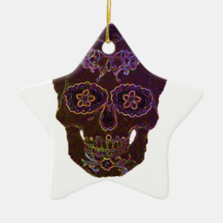 sugarskull2 keramik ornament