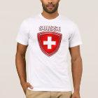 Suisse Logoschild-Emblemflagge von der Schweiz T-Shirt