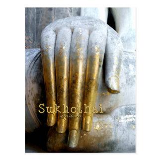 Sukhothai historischer Park. Wat Si Kumpel. Reise Postkarte