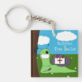 Sullivan der Baum-Doktor Beidseitiger Quadratischer Acryl Schlüsselanhänger