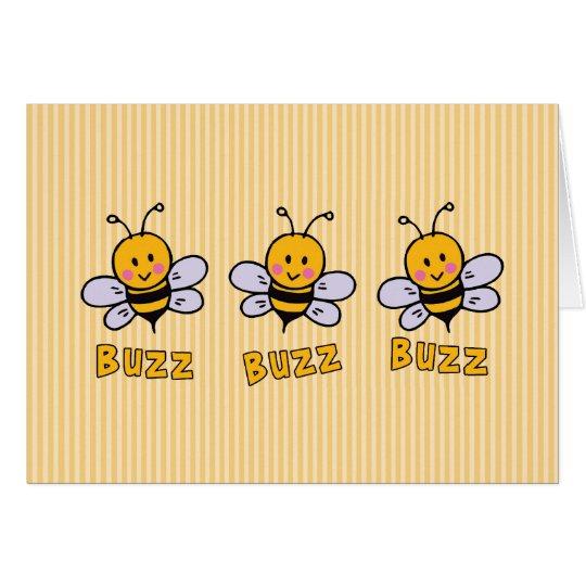 Summen-Summen-Biene Mitteilungskarte