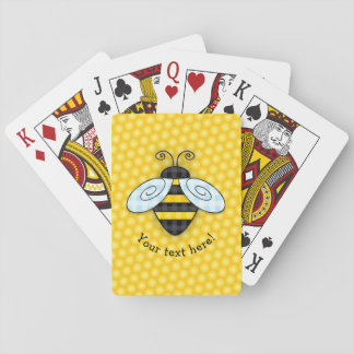 Summende Hummel-und Bienenwaben-Ikone Spielkarten