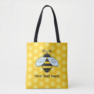 Summende Hummel-und Bienenwaben-Ikone Tasche