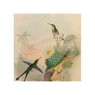 Summenvogel-Kaktus-Malerei-hölzernes Kunst-Zeichen Holzleinwand