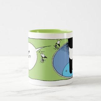 Sumpf-Ameisen-Golf-Schlag-Cartoon Zweifarbige Tasse