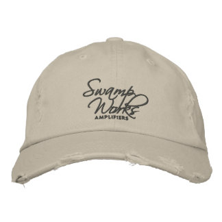 Sumpf-Arbeiten beunruhigten Logo-Hut Besticktes Cap