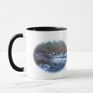 Sumpfgebiet-Teiche im Winter Tasse