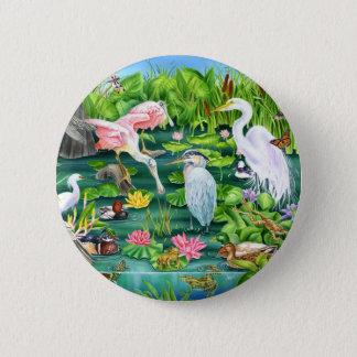 Sumpfgebiet-Wunder Runder Button 5,7 Cm
