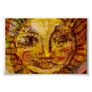 Sun abstrakt poster