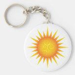 Sun avec des remous porte-clé rond