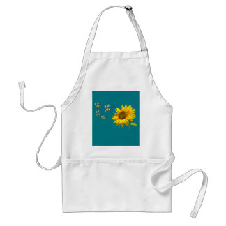 sun flower and bees tablier