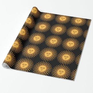 Sun Geschenkpapier