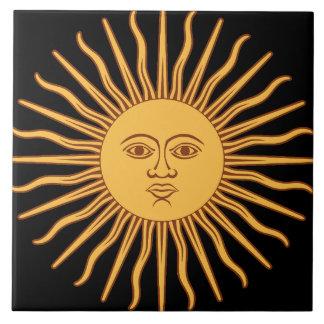 Sun Große Quadratische Fliese