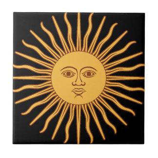Sun Kleine Quadratische Fliese