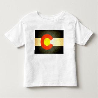 Sun küsste Colorado-Flagge Kleinkind T-shirt