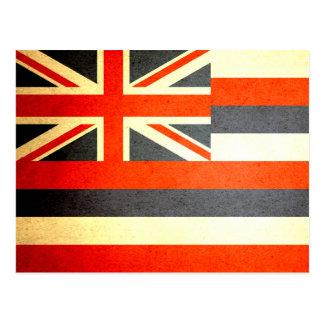 Sun küsste Hawaii-Flagge Postkarte