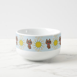 Sun-Miezekatze-Katze Große Suppentasse