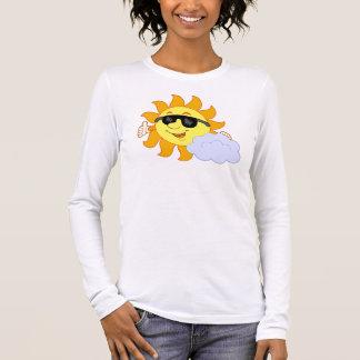 Sun mit Wolke Langarm T-Shirt