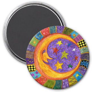 Sun, Mond und Stern-Magnet Runder Magnet 7,6 Cm
