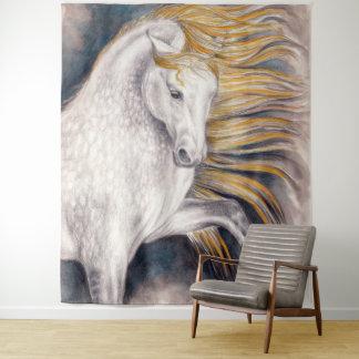 Sun-Pferdepferdeartige Aquarell-Kunst Wandteppich