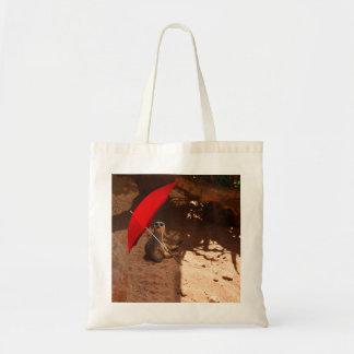 Sun_Smart_Meerkat, _Budget_Tote_Shopping_Bag. Budget Stoffbeutel