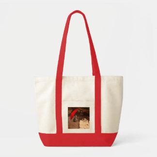 Sun_Smart_Meerkat, - Red_Impulse_Shopping_Bag. Impulse Stoffbeutel