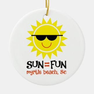Sun = Spaß Rundes Keramik Ornament