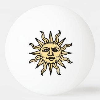 Sun stellen gegenüber tischtennis ball