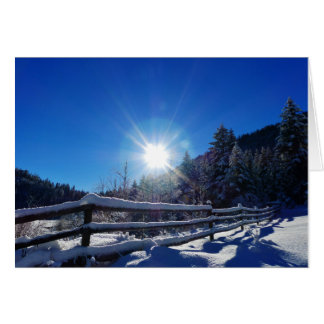 Sun-Stern-Winter-Szenen-Weihnachtsgruß-Karte Grußkarte