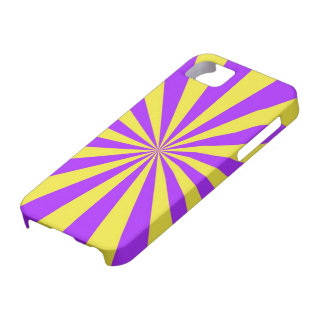 Sun strahlt in violettem und gelbem iPhone 5 Hülle Fürs iPhone 5