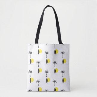 Sun, Surfbrett und Palmen-Taschentasche Tasche