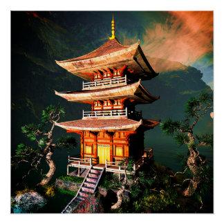Sun-Tempel in Tibet Poster