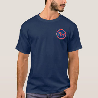 Sun Tzu rotes u. blaues Siegel-Shirt T-Shirt