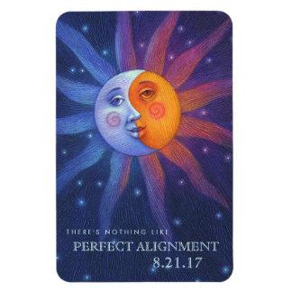 Sun und Mond verdunkeln perfekte Ausrichtung 4 x 6 Magnet