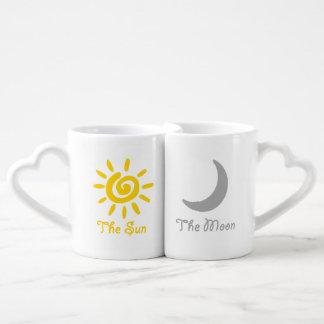 Sun- und Mondpaare Liebestassen