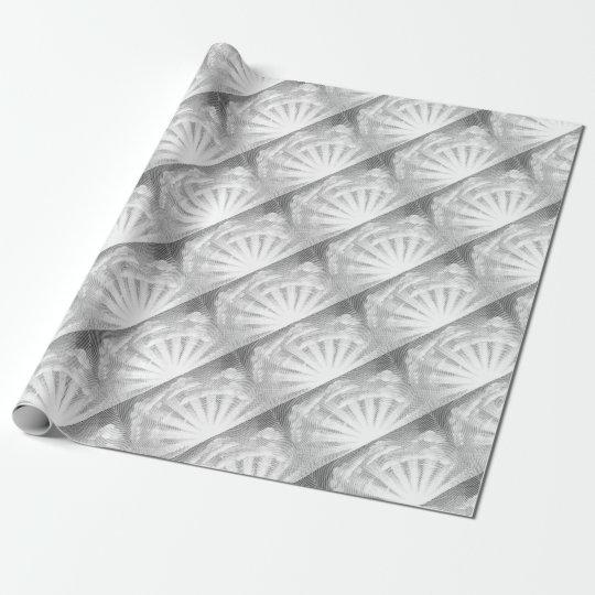 Sun und Wolken-Holzschnitt Geschenkpapier