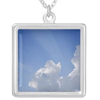 Sunbeams durch Wolken, Val d'Orcia, Siena Versilberte Kette