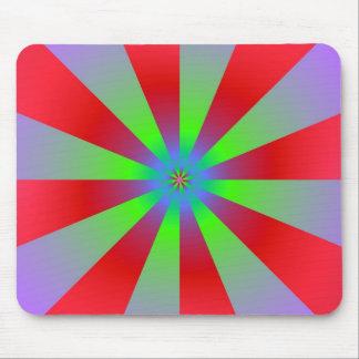 Sunbeams in der roten Flieder und in grünem Mousepad