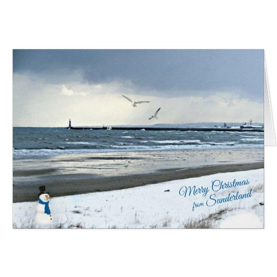 Sunderland - Roker Pier-Weihnachtskarte Karte