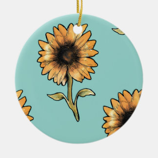sunflower keramik ornament