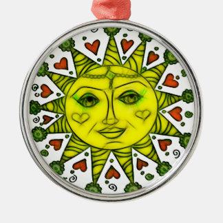 Sunhine 2a rundes silberfarbenes ornament