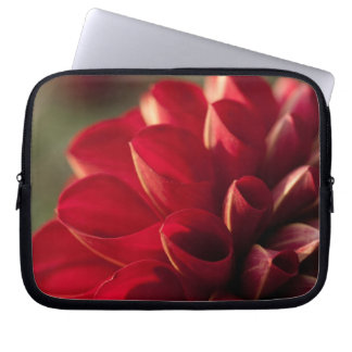 Sunlit rote Dahlie-Laptop-Hülse Laptopschutzhülle