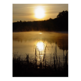 Sunrise See-Reflexions-Postkarte Postkarte
