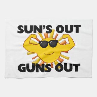 Suns heraus schießt heraus geschirrtuch