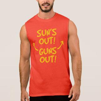 Suns heraus schießt heraus Sleeveless T-Stück Ärmelloses Shirt